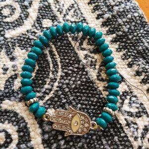 Hamsa stretch bracelet